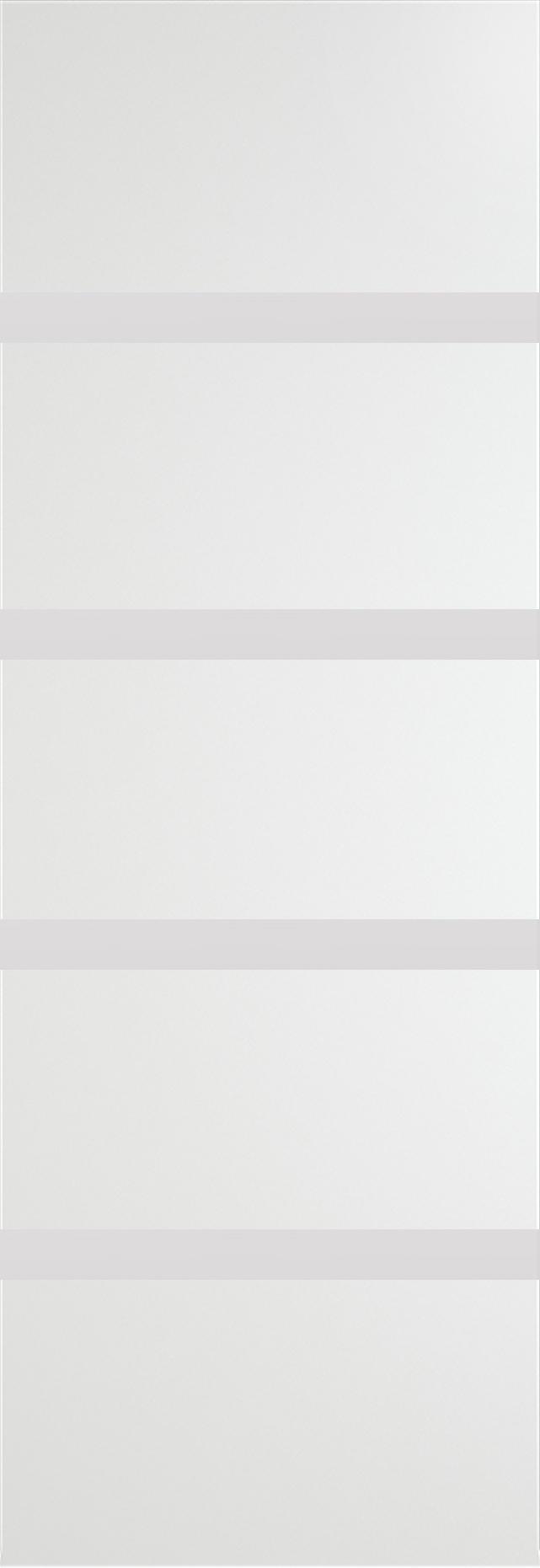 Tivoli Д-4 Invisible цвет - Белая эмаль Без стекла (ДГ)