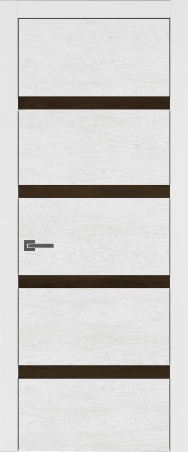 Tivoli Д-4 цвет - Белая эмаль по шпону (RAL 9003) Без стекла (ДГ)