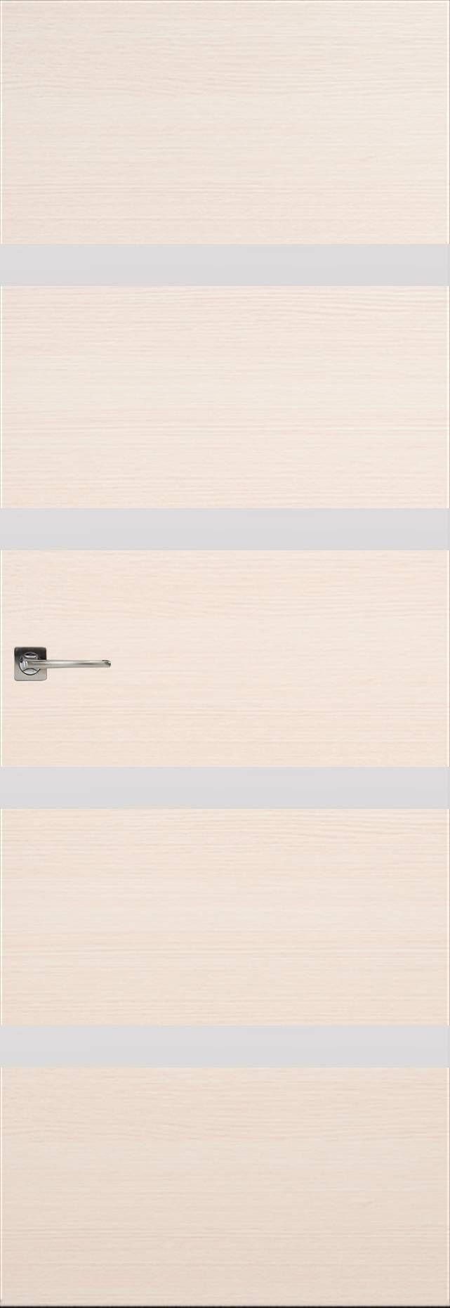Tivoli Д-4 Невидимка цвет - Беленый дуб Без стекла (ДГ)