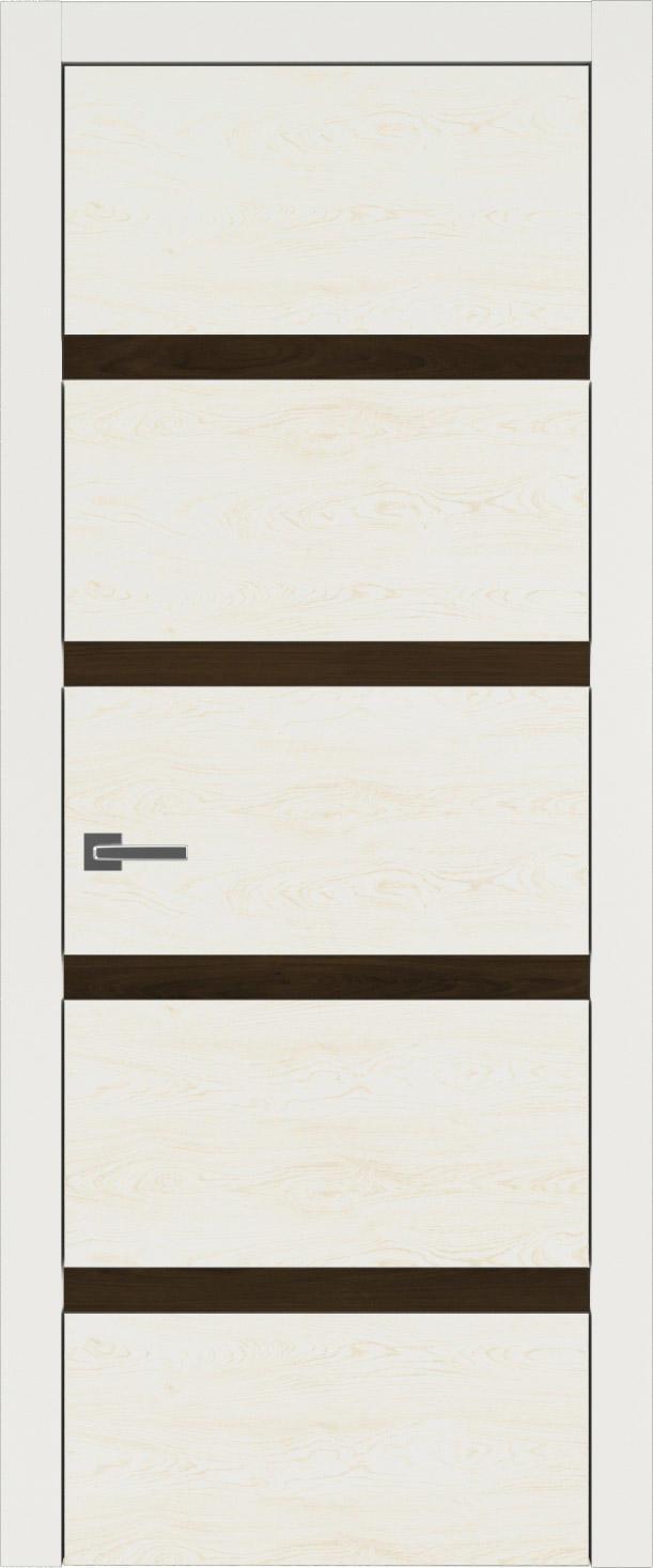 Tivoli Д-4 цвет - Бежевая эмаль по шпону (RAL 9010) Без стекла (ДГ)