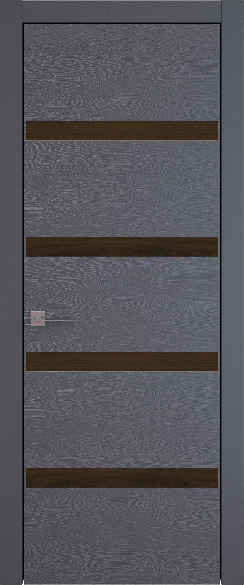 Tivoli Д-4 цвет - Графитово-серая эмаль по шпону (RAL 7024) Без стекла (ДГ)