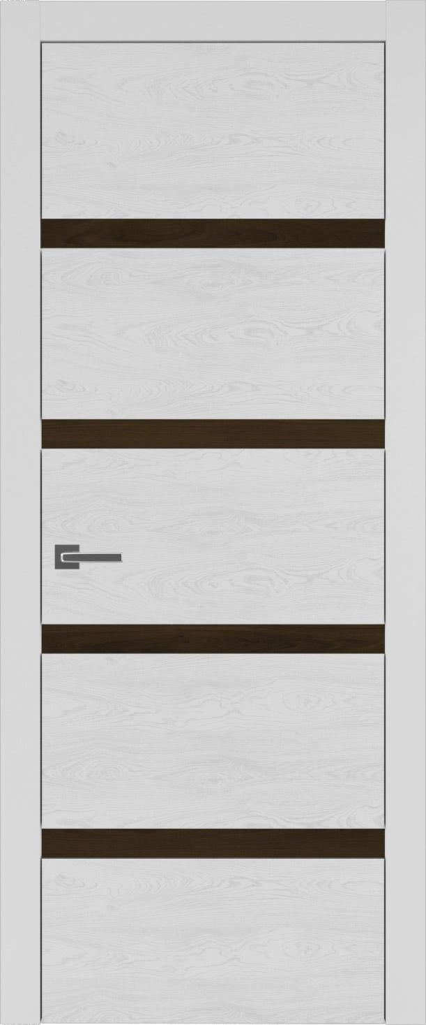 Tivoli Д-4 цвет - Серая эмаль по шпону (RAL 7047) Без стекла (ДГ)