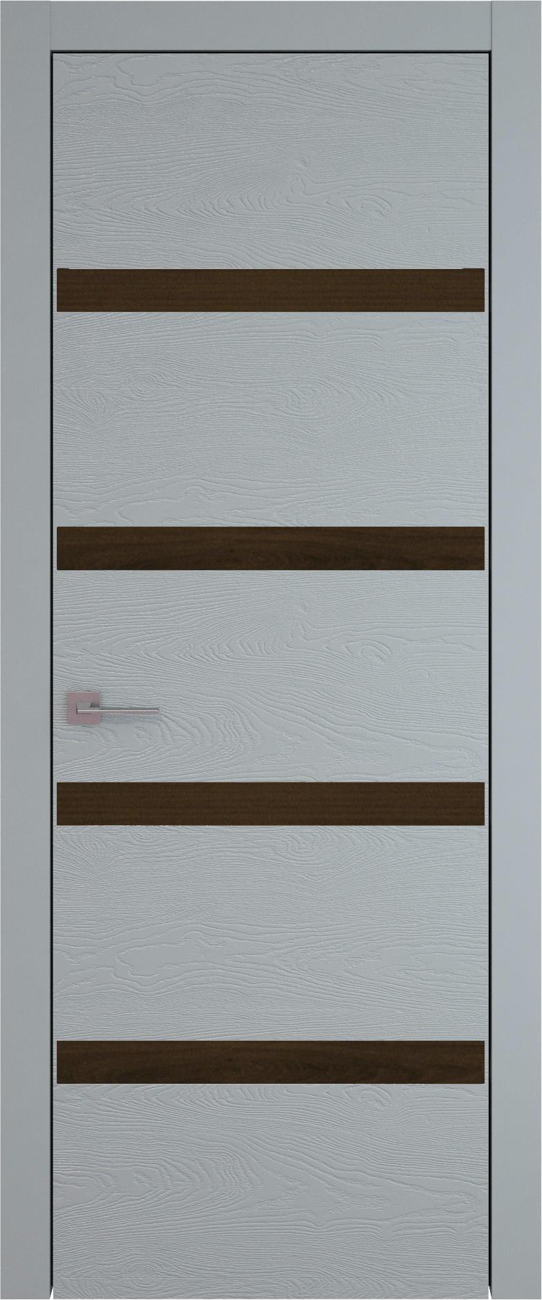 Tivoli Д-4 цвет - Серебристо-серая эмаль по шпону (RAL 7045) Без стекла (ДГ)