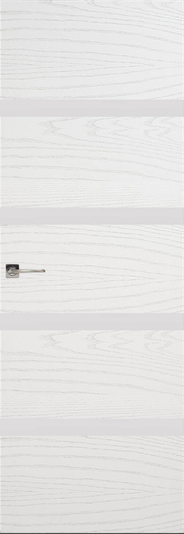 Tivoli Д-4 Невидимка цвет - Ясень белая эмаль Без стекла (ДГ)