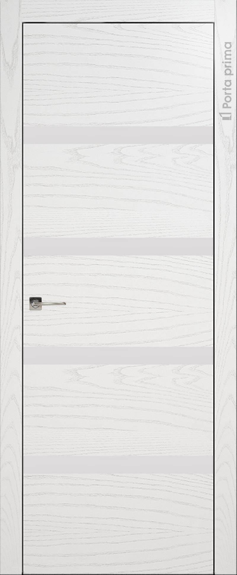 Tivoli Д-4 цвет - Белый ясень (шпон) Без стекла (ДГ)