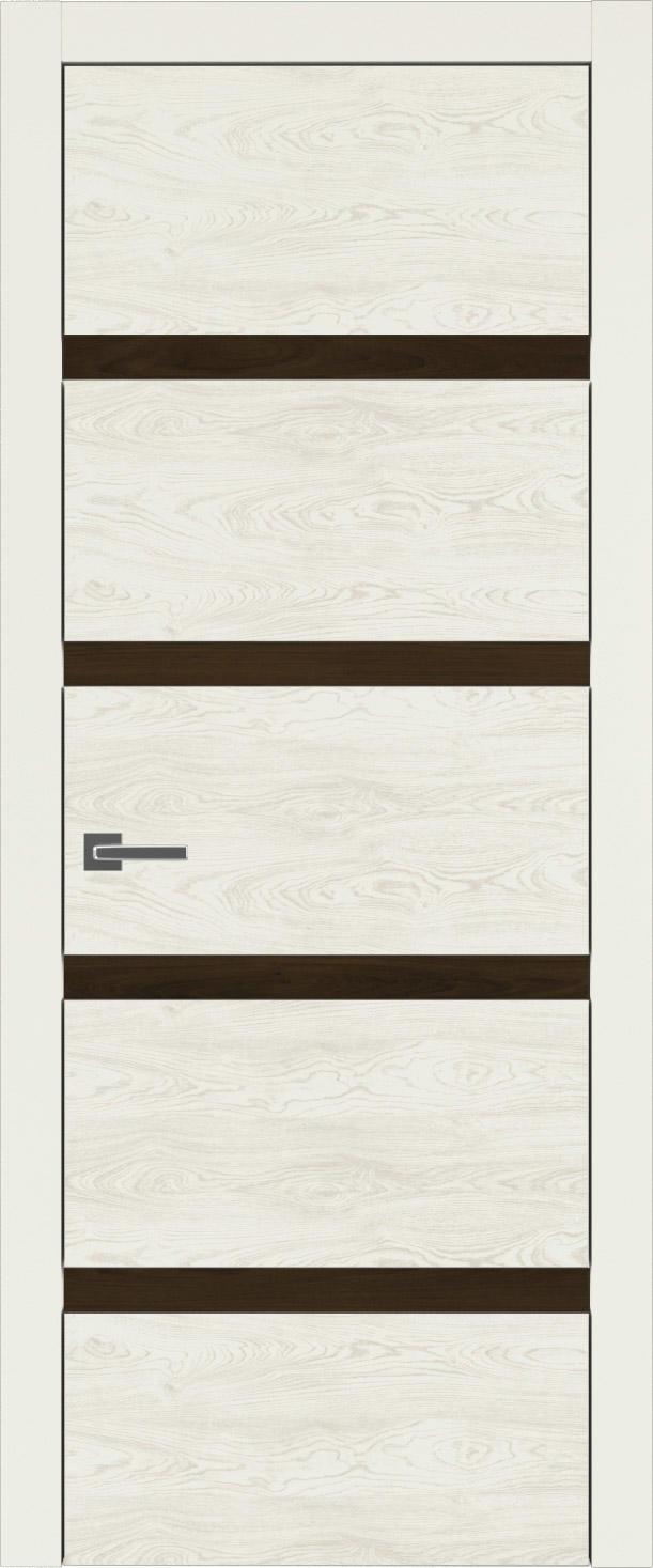 Tivoli Д-4 цвет - Жемчужная эмаль по шпону (RAL 1013) Без стекла (ДГ)