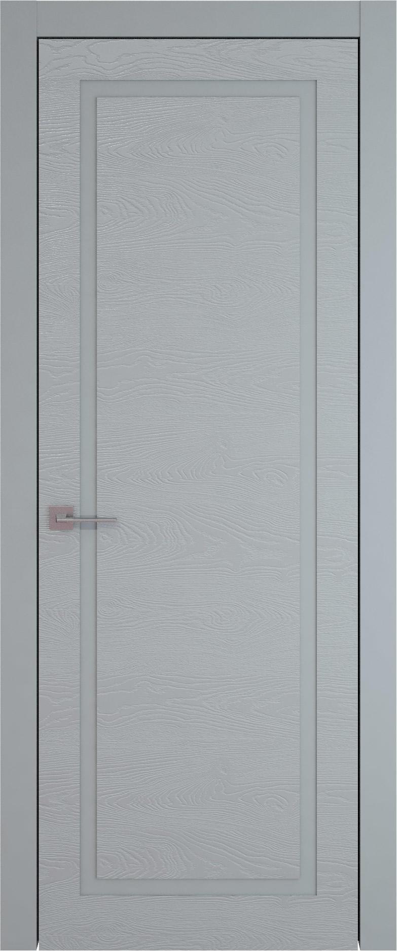 Tivoli Д-5 цвет - Серебристо-серая эмаль по шпону (RAL 7045) Без стекла (ДГ)