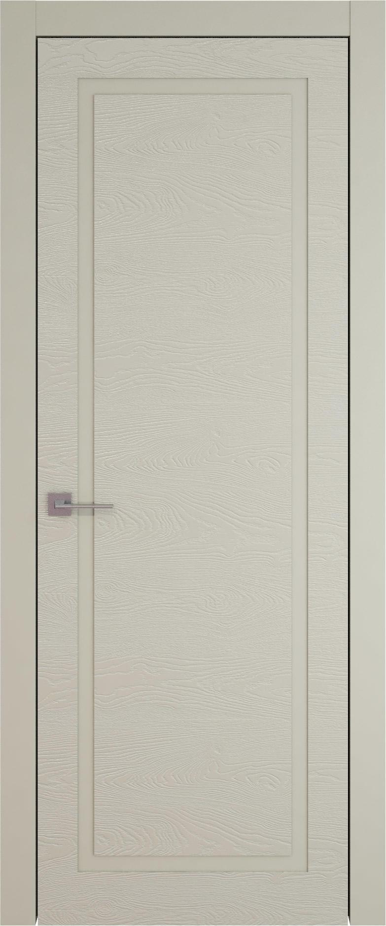 Tivoli Д-5 цвет - Серо-оливковая эмаль по шпону (RAL 7032) Без стекла (ДГ)