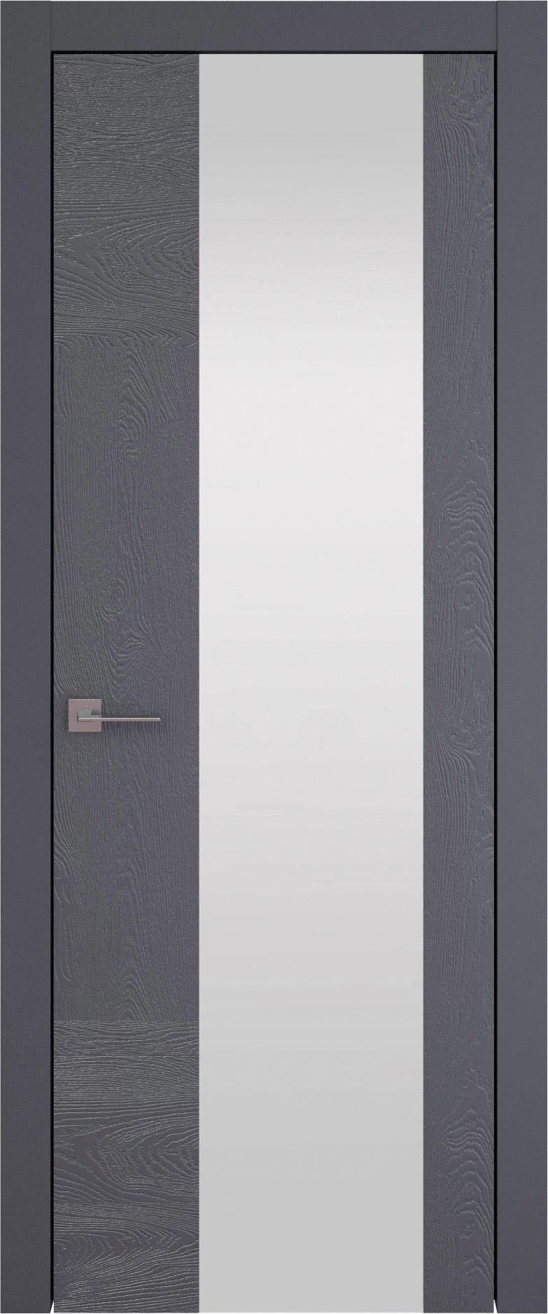 Tivoli Е-1 цвет - Графитово-серая эмаль по шпону (RAL 7024) Со стеклом (ДО)