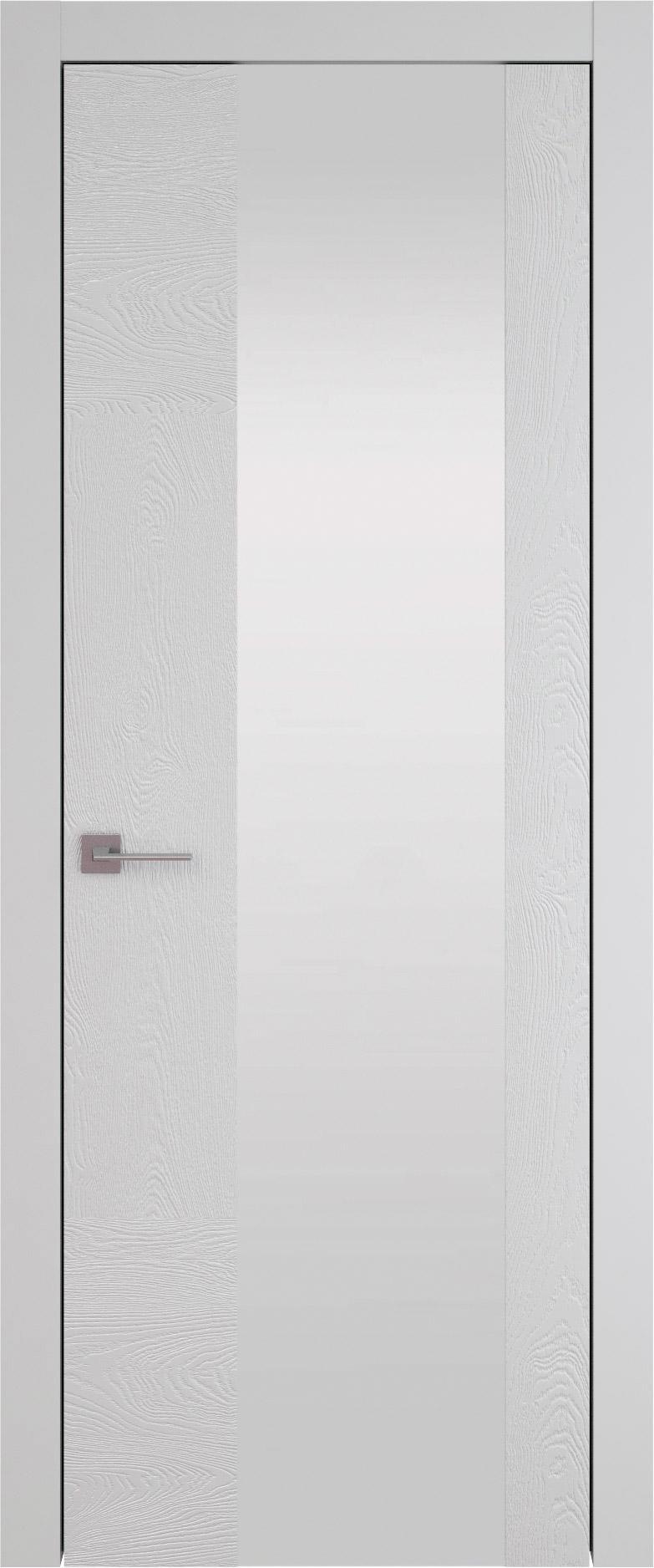 Tivoli Е-1 цвет - Серая эмаль по шпону (RAL 7047) Со стеклом (ДО)
