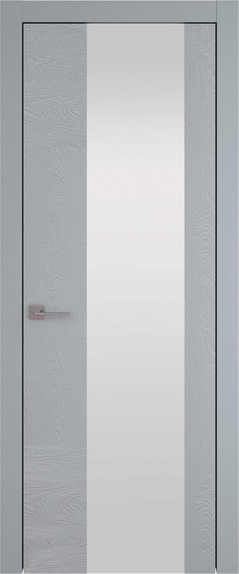 Tivoli Е-1 цвет - Серебристо-серая эмаль по шпону (RAL 7045) Со стеклом (ДО)