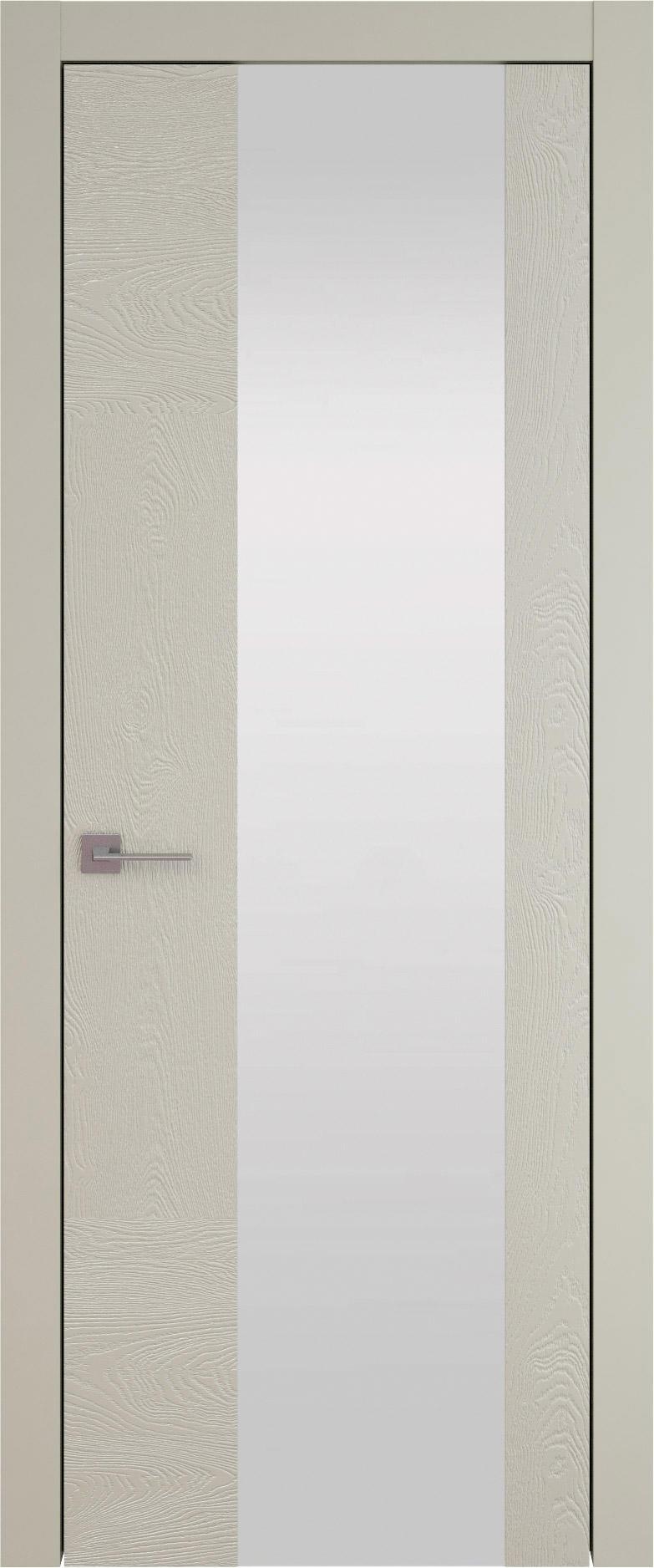 Tivoli Е-1 цвет - Серо-оливковая эмаль по шпону (RAL 7032) Со стеклом (ДО)