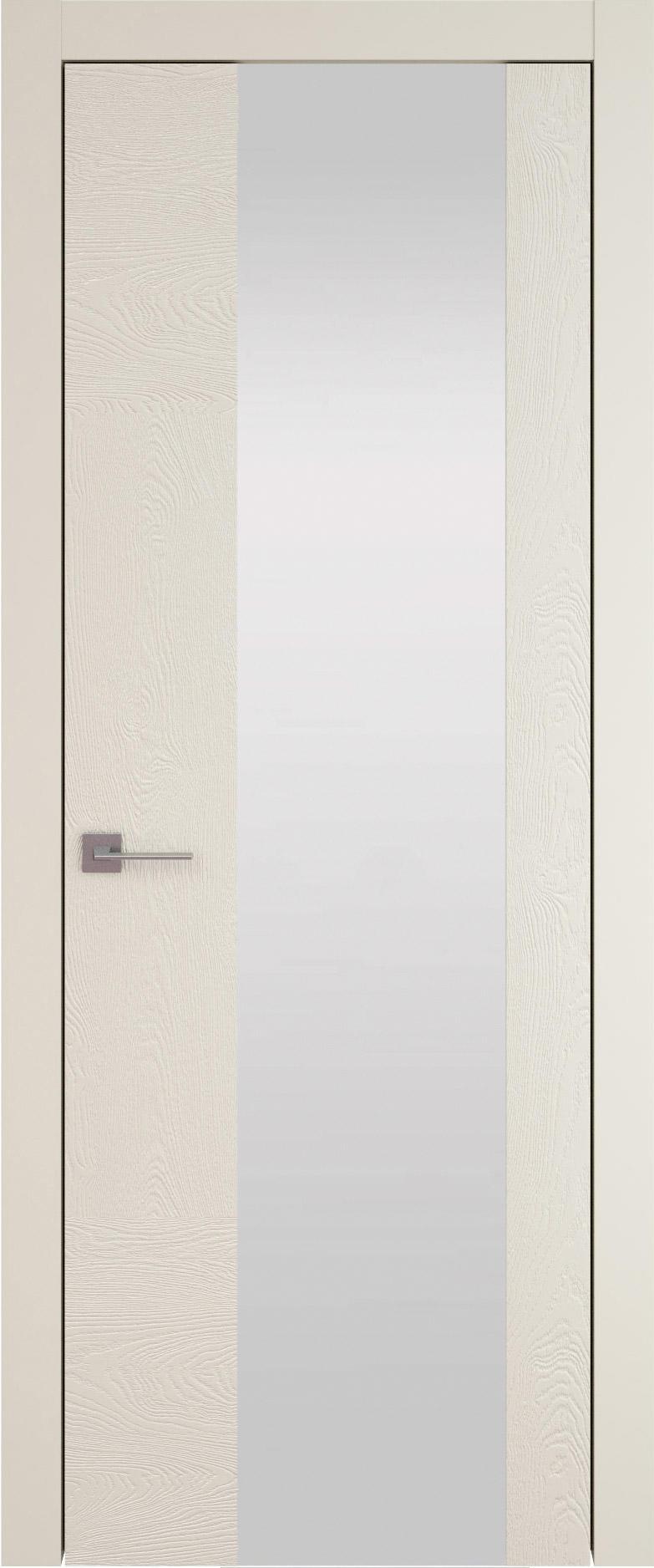 Tivoli Е-1 цвет - Жемчужная эмаль по шпону (RAL 1013) Со стеклом (ДО)