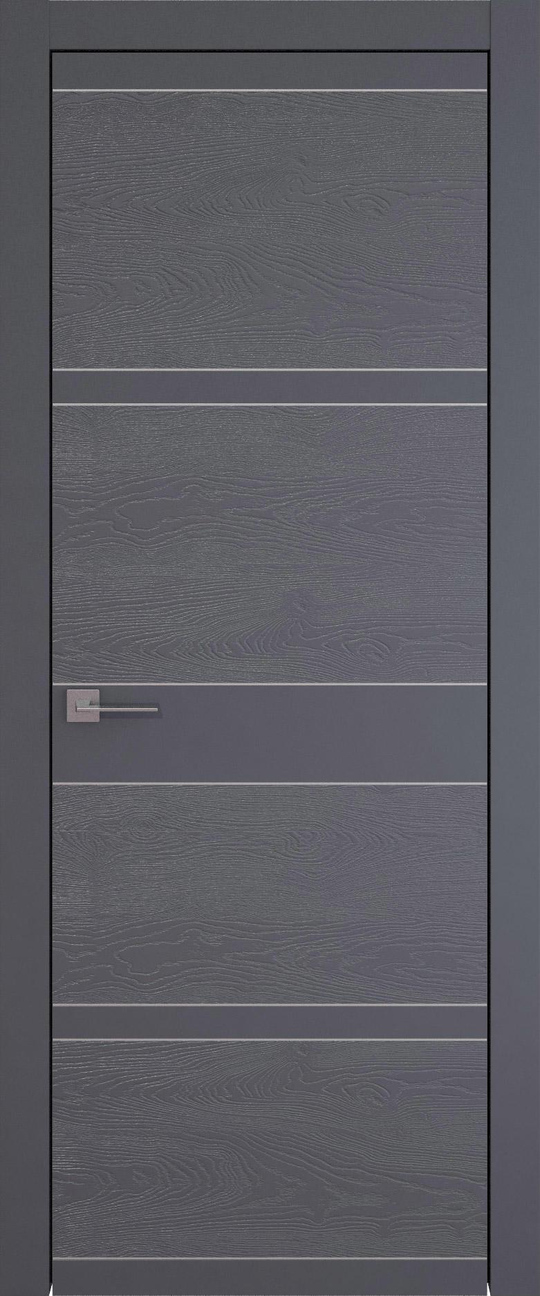 Tivoli Е-2 цвет - Графитово-серая эмаль-эмаль по шпону (RAL 7024) Без стекла (ДГ)