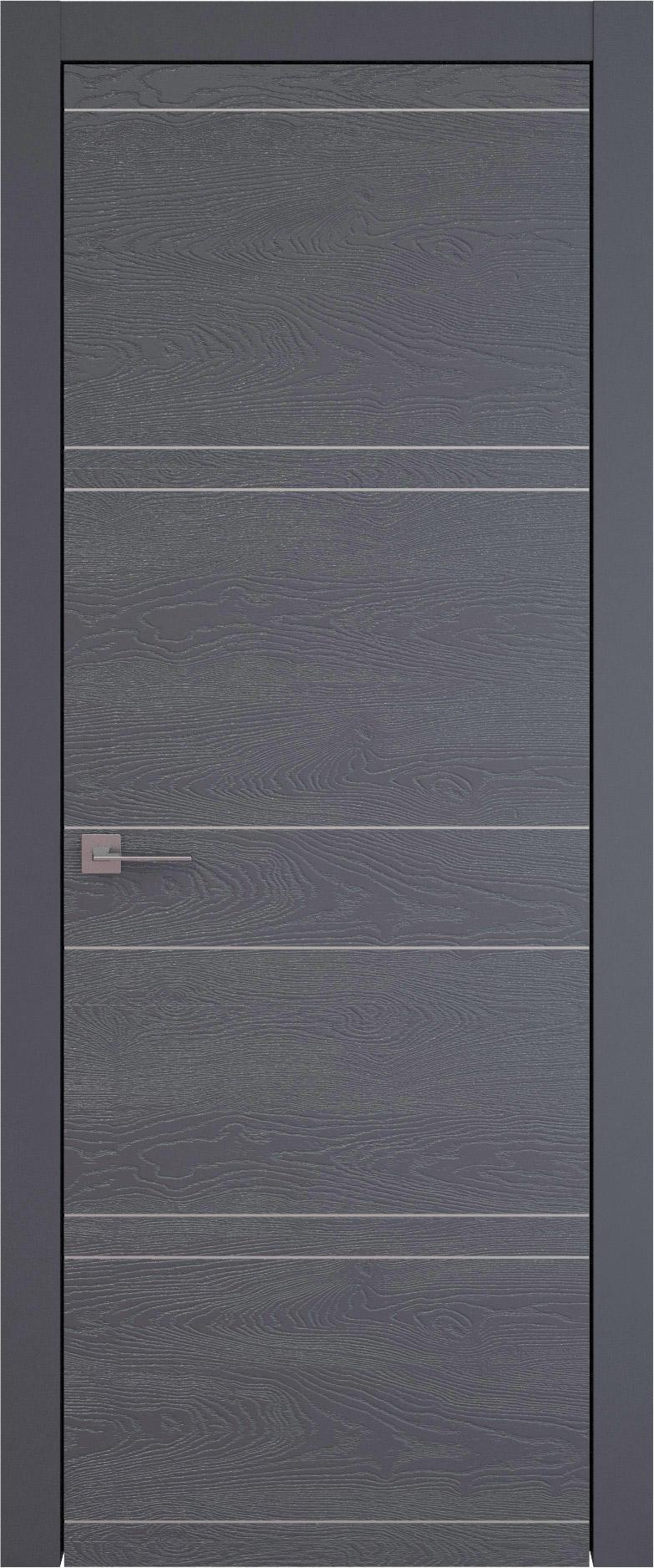Tivoli Е-2 цвет - Графитово-серая эмаль по шпону (RAL 7024) Без стекла (ДГ)