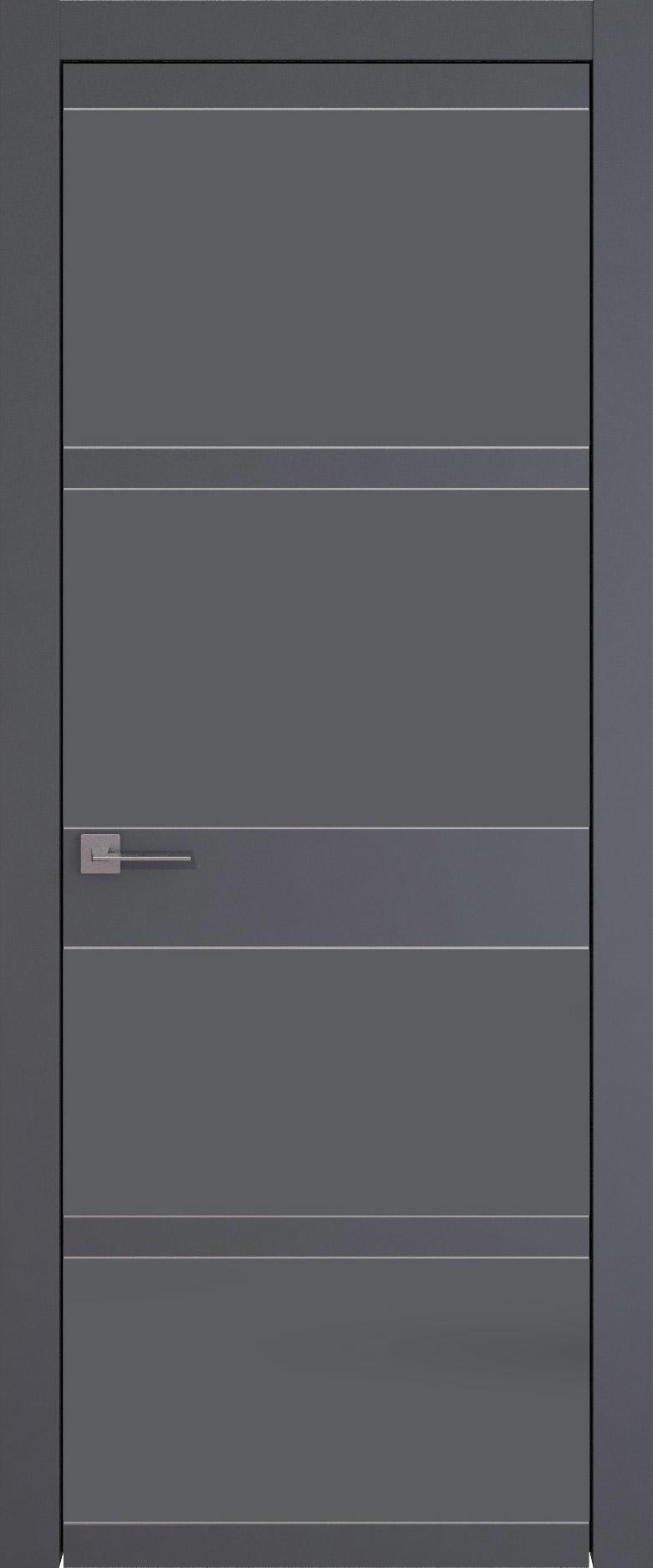 Tivoli Е-2 цвет - Графитово-серая эмаль (RAL 7024) Без стекла (ДГ)