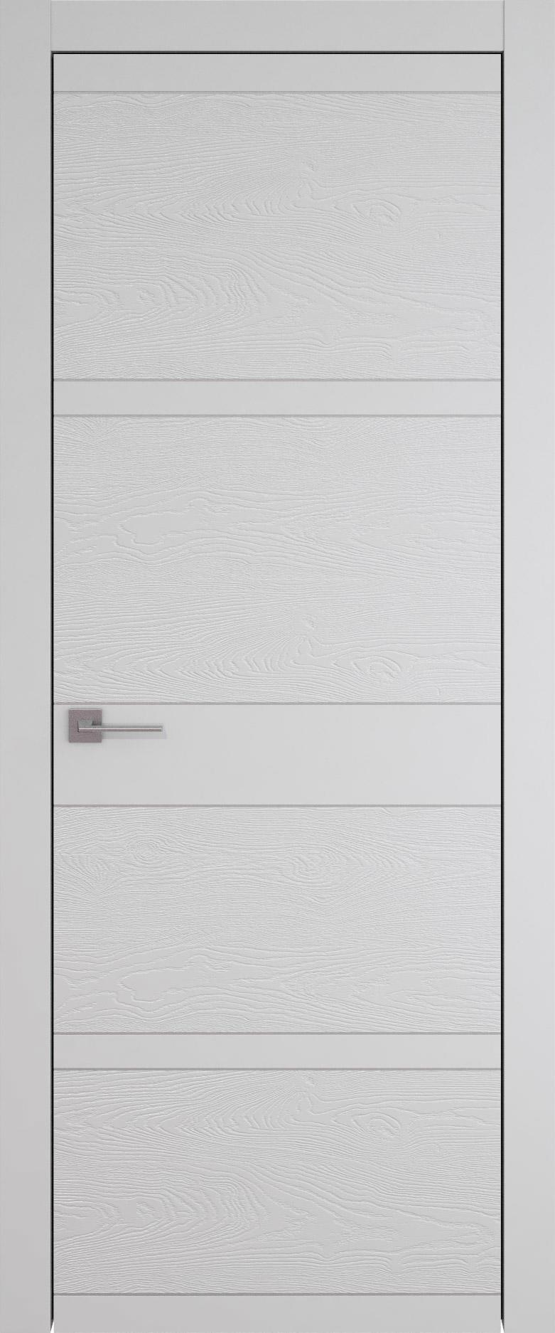 Tivoli Е-2 цвет - Серая эмаль-эмаль по шпону (RAL 7047) Без стекла (ДГ)
