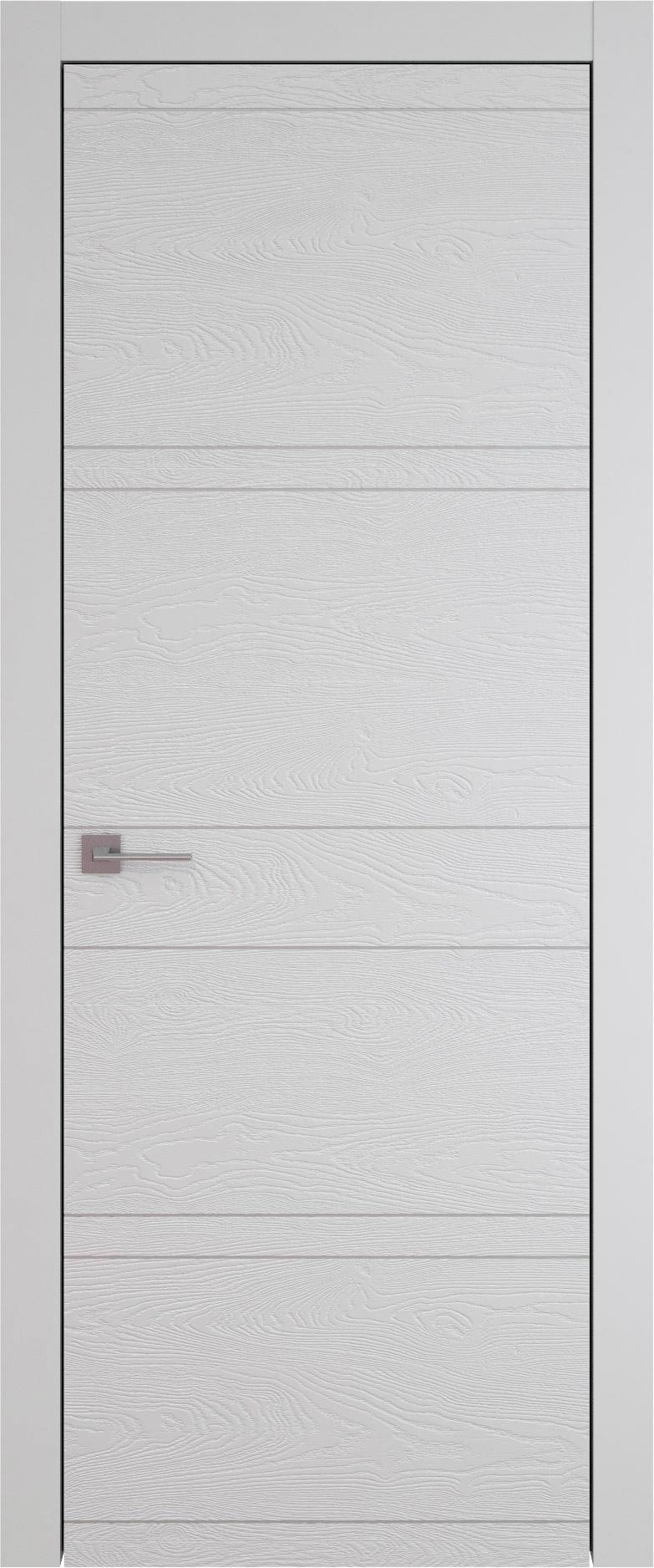 Tivoli Е-2 цвет - Серая эмаль по шпону (RAL 7047) Без стекла (ДГ)