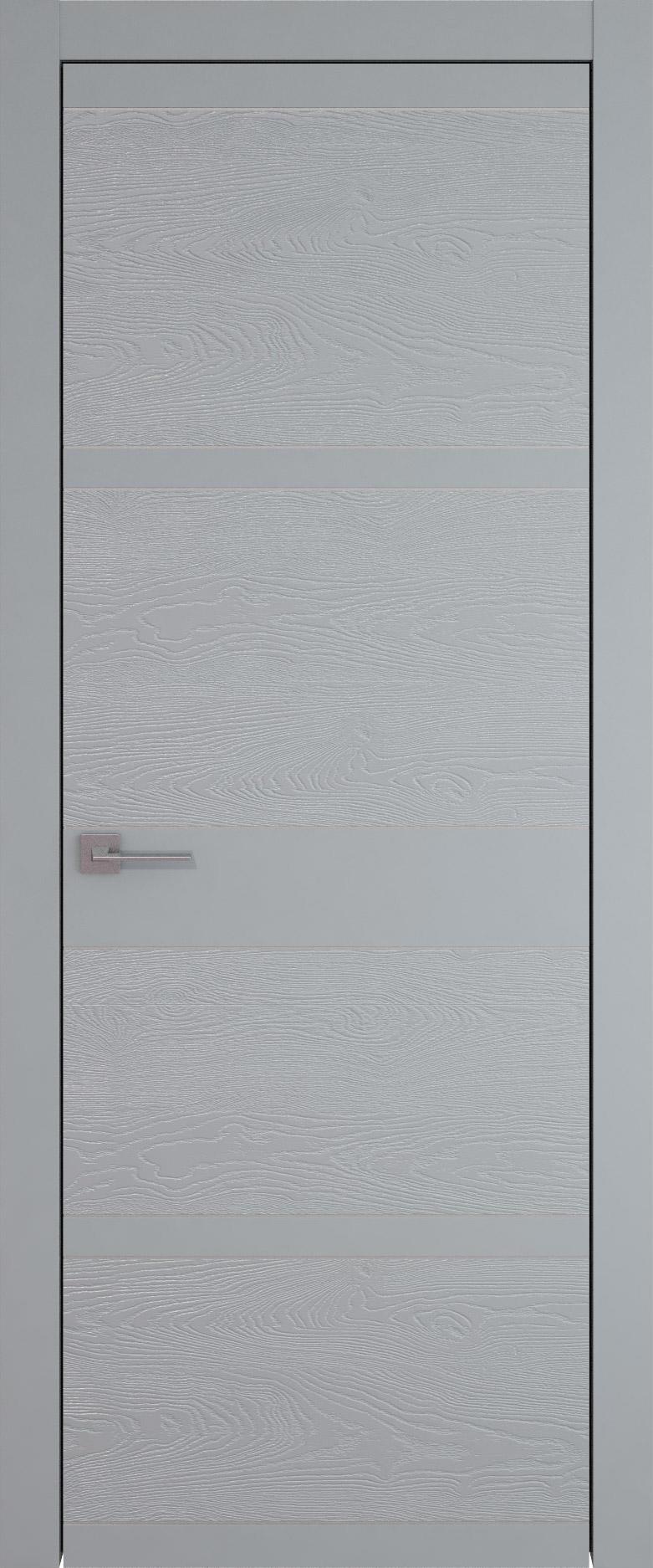 Tivoli Е-2 цвет - Серебристо-серая эмаль-эмаль по шпону (RAL 7045) Без стекла (ДГ)