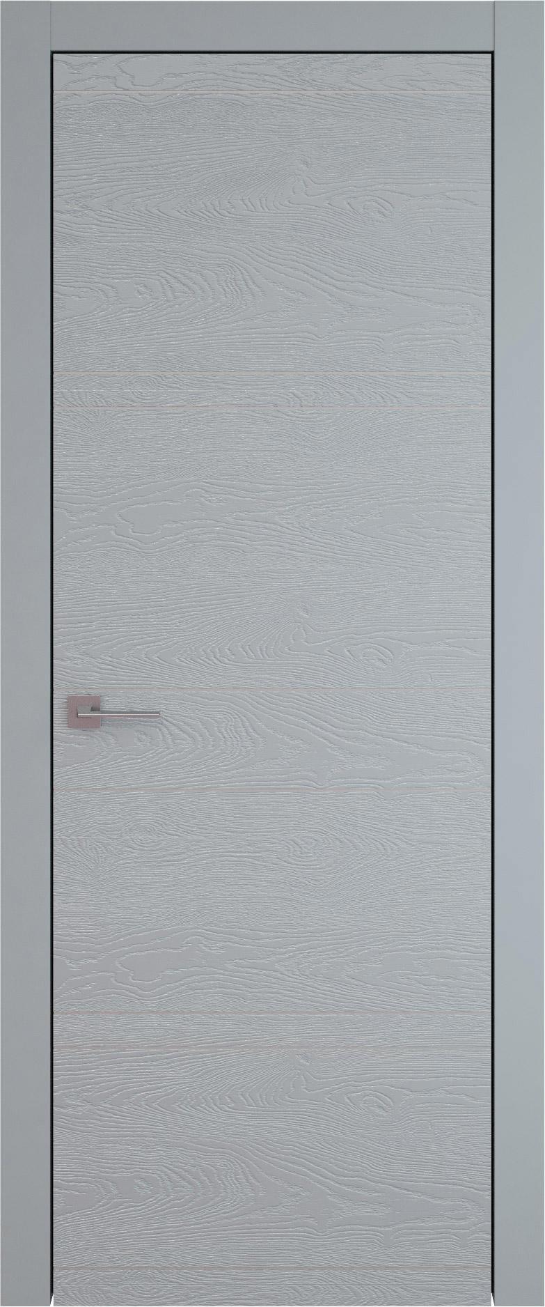 Tivoli Е-2 цвет - Серебристо-серая эмаль по шпону (RAL 7045) Без стекла (ДГ)