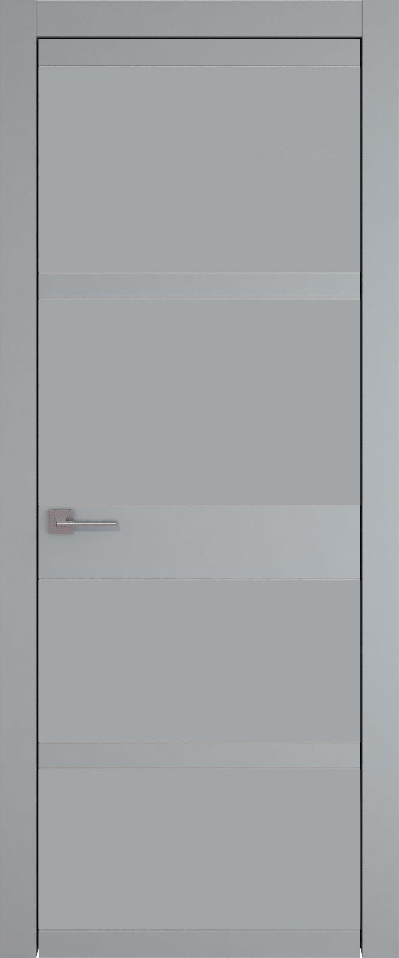 Tivoli Е-2 цвет - Серебристо-серая эмаль (RAL 7045) Без стекла (ДГ)