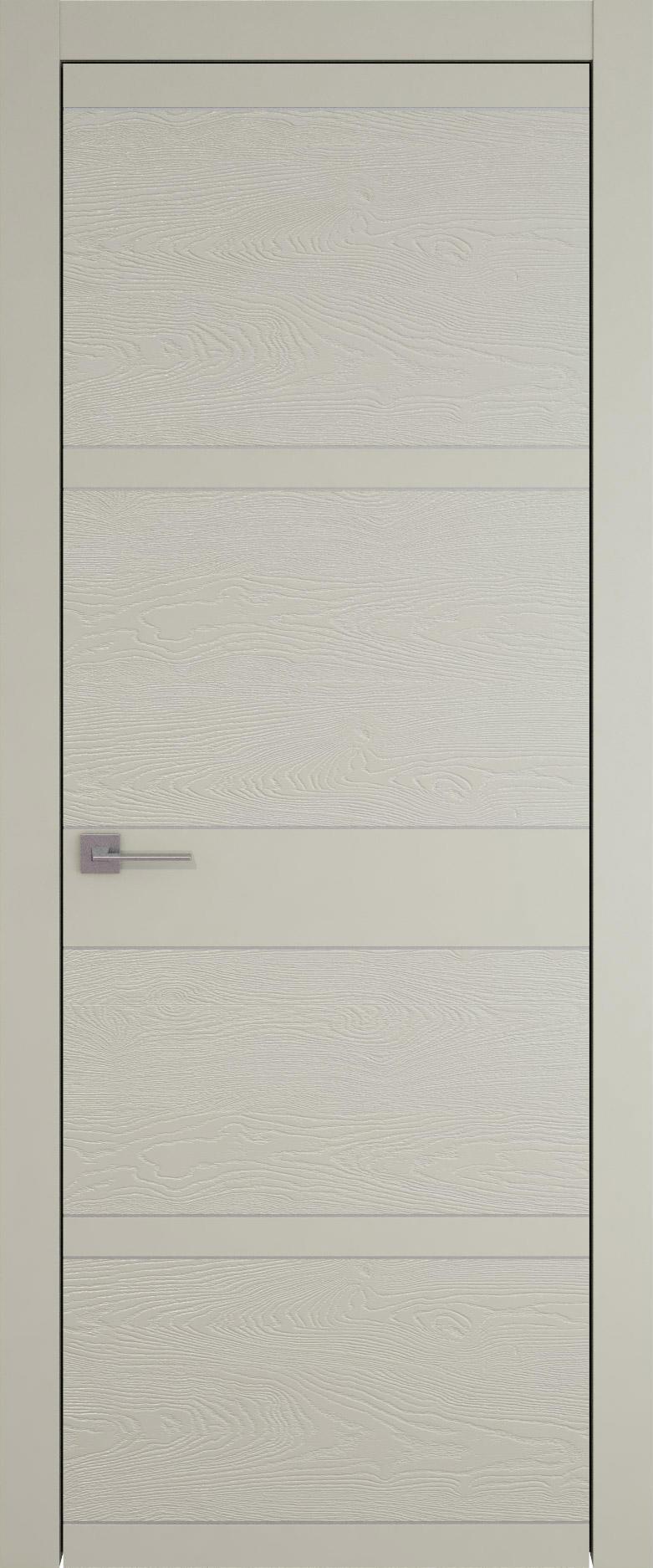 Tivoli Е-2 цвет - Серо-оливковая эмаль-эмаль по шпону (RAL 7032) Без стекла (ДГ)