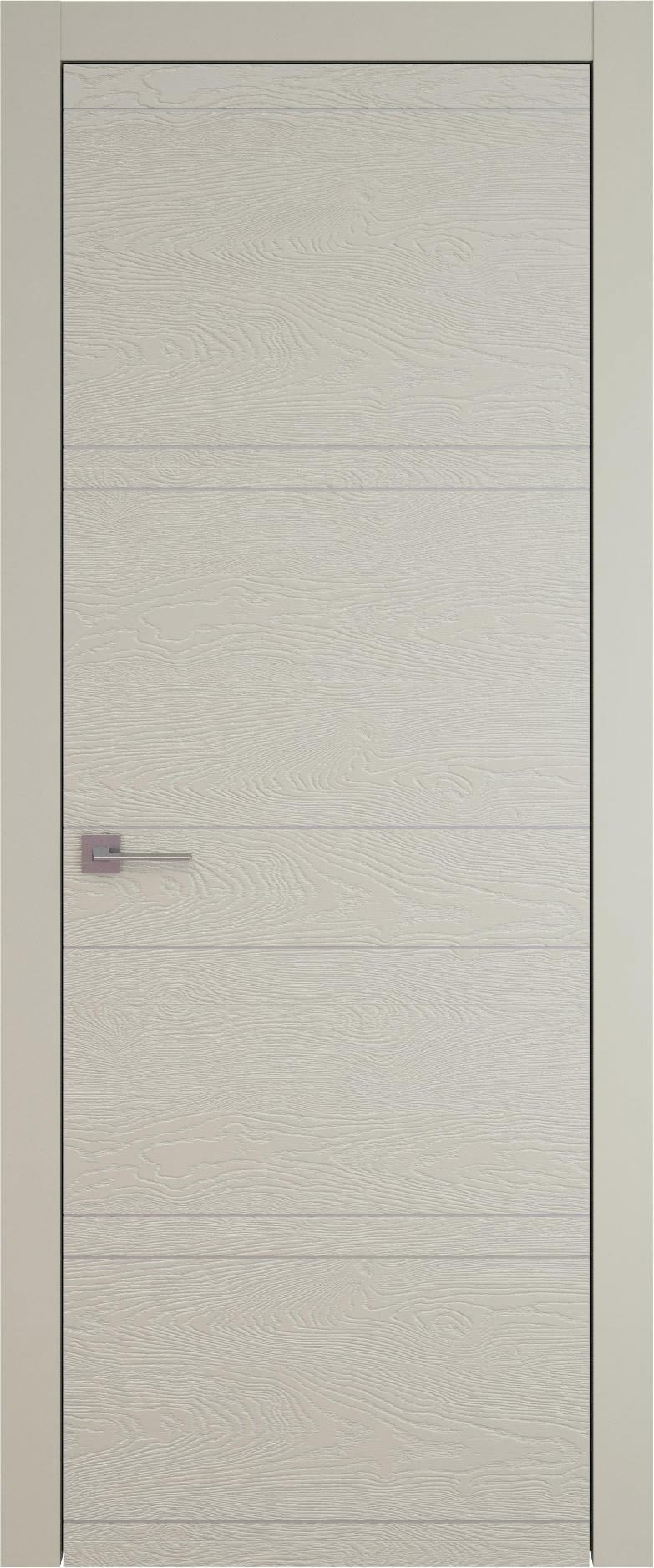 Tivoli Е-2 цвет - Серо-оливковая эмаль по шпону (RAL 7032) Без стекла (ДГ)