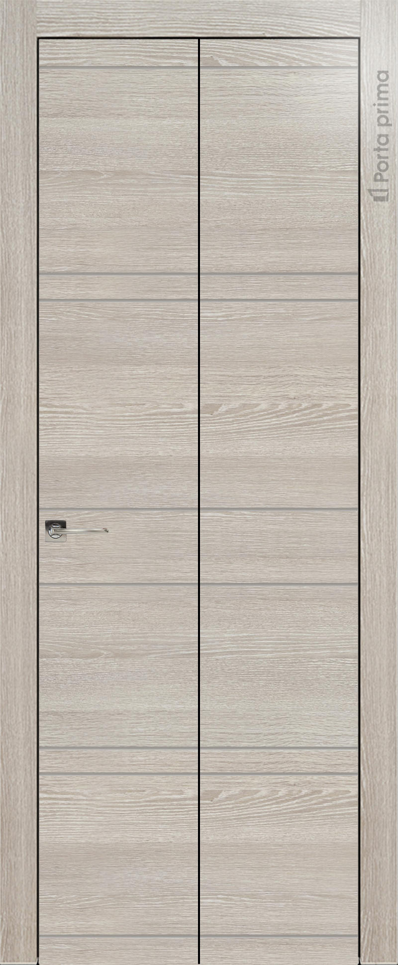 Tivoli Е-2 Книжка цвет - Серый дуб Без стекла (ДГ)