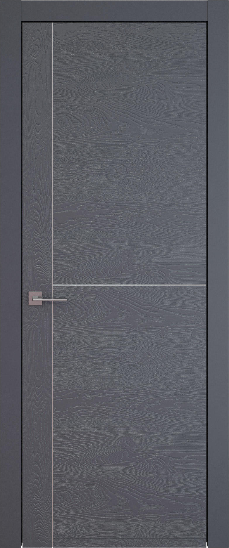 Tivoli Е-3 цвет - Графитово-серая эмаль по шпону (RAL 7024) Без стекла (ДГ)