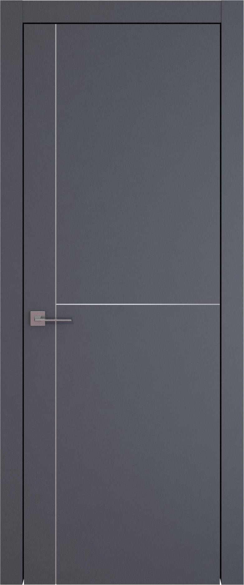 Tivoli Е-3 цвет - Графитово-серая эмаль (RAL 7024) Без стекла (ДГ)