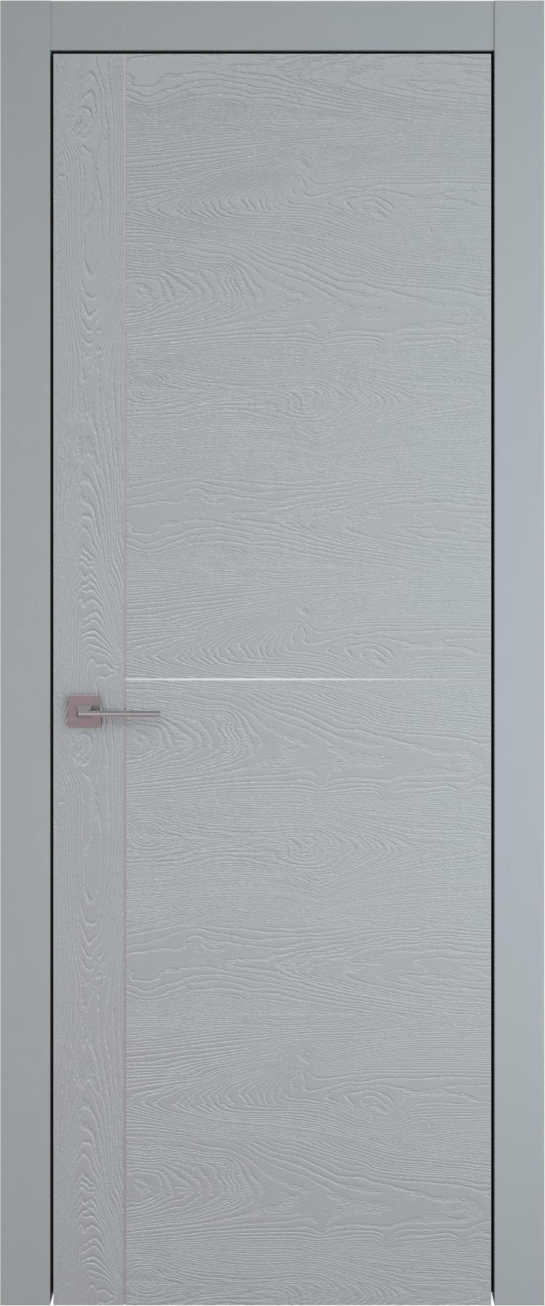 Tivoli Е-3 цвет - Серебристо-серая эмаль по шпону (RAL 7045) Без стекла (ДГ)
