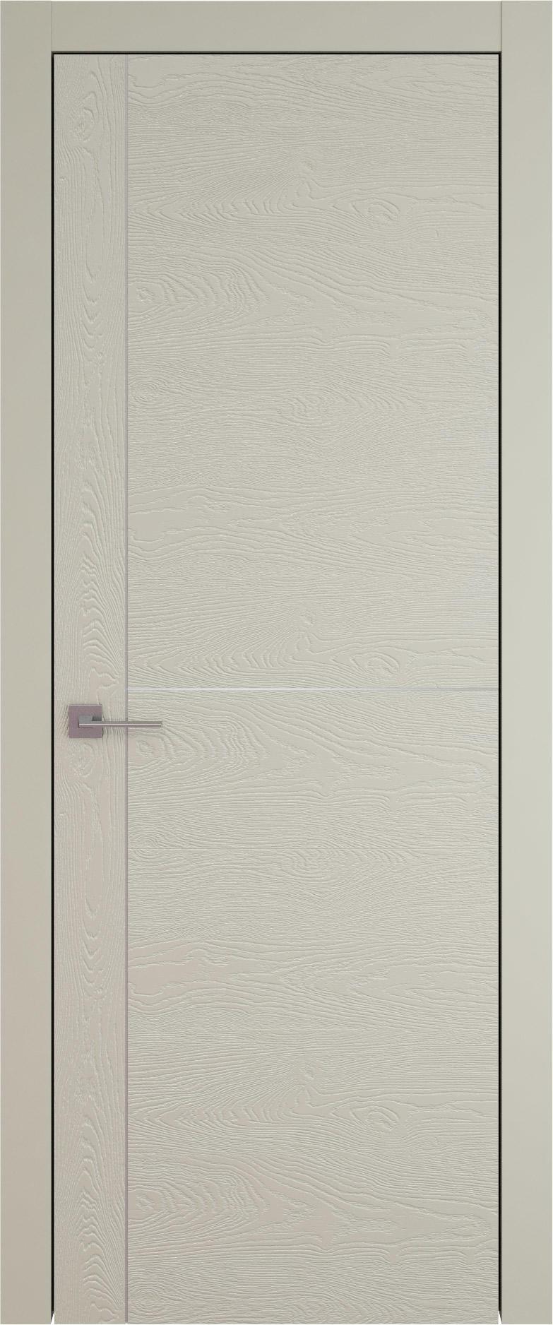 Tivoli Е-3 цвет - Серо-оливковая эмаль по шпону (RAL 7032) Без стекла (ДГ)