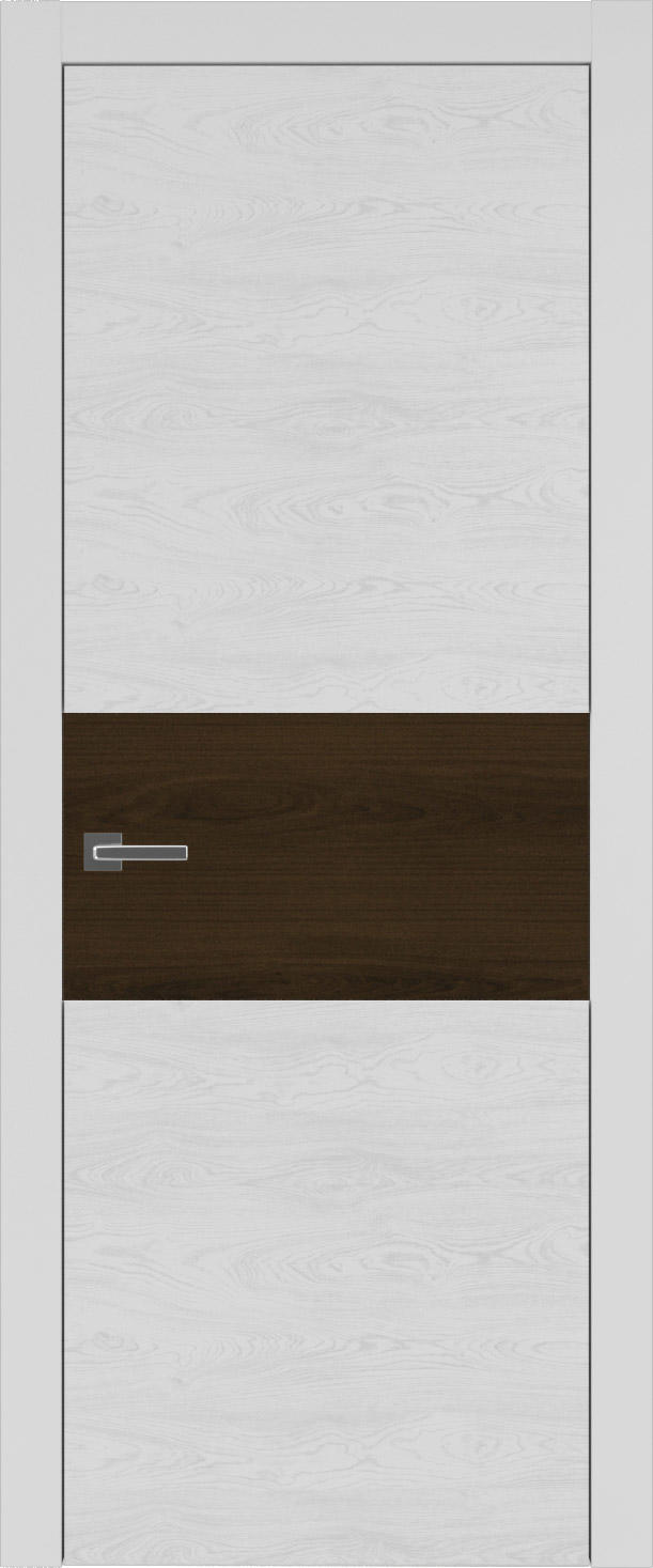 Tivoli Е-4 цвет - Серая эмаль по шпону (RAL 7047) Без стекла (ДГ)