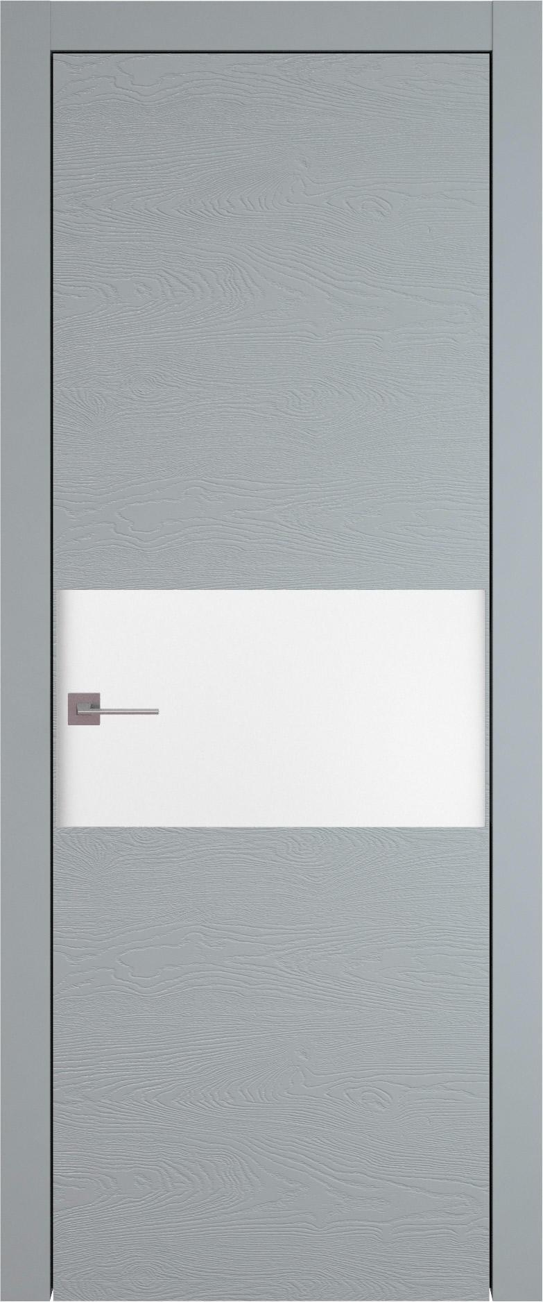 Tivoli Е-4 цвет - Серебристо-серая эмаль по шпону (RAL 7045) Без стекла (ДГ)