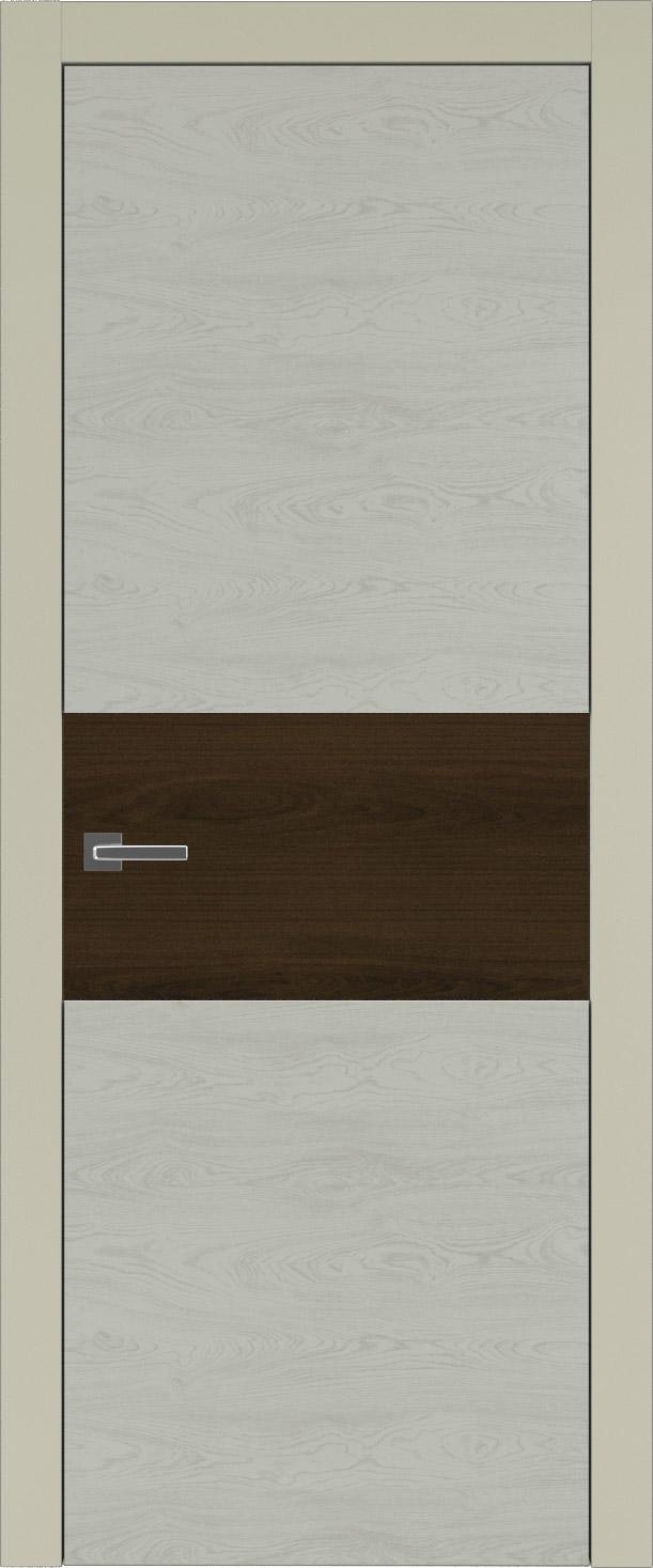 Tivoli Е-4 цвет - Серо-оливковая эмаль по шпону (RAL 7032) Без стекла (ДГ)