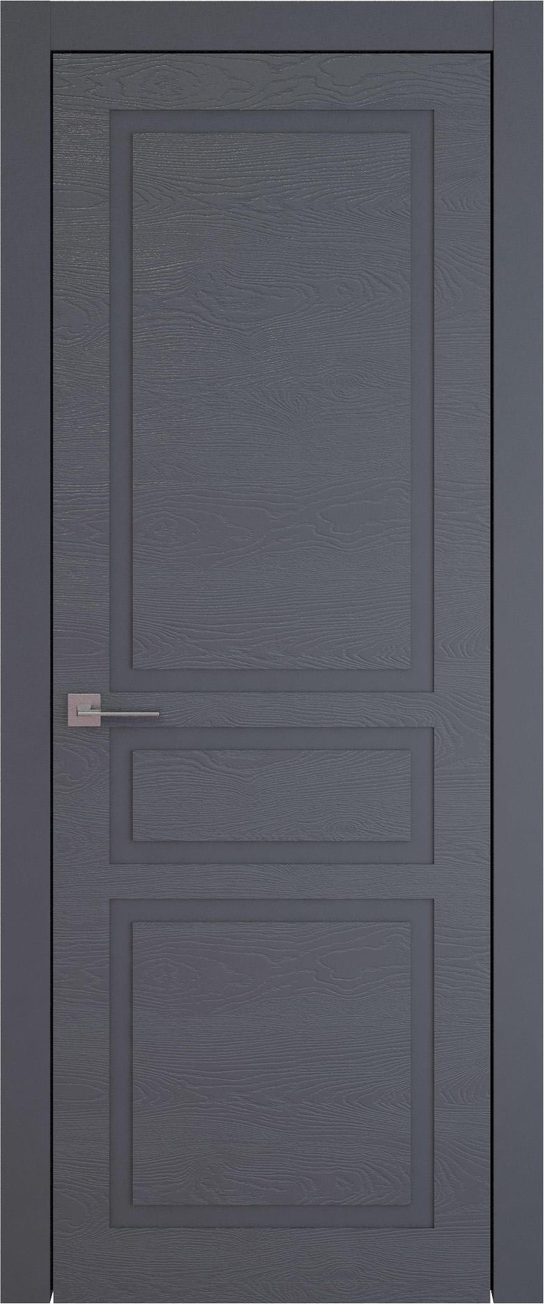 Tivoli Е-5 цвет - Графитово-серая эмаль по шпону (RAL 7024) Без стекла (ДГ)