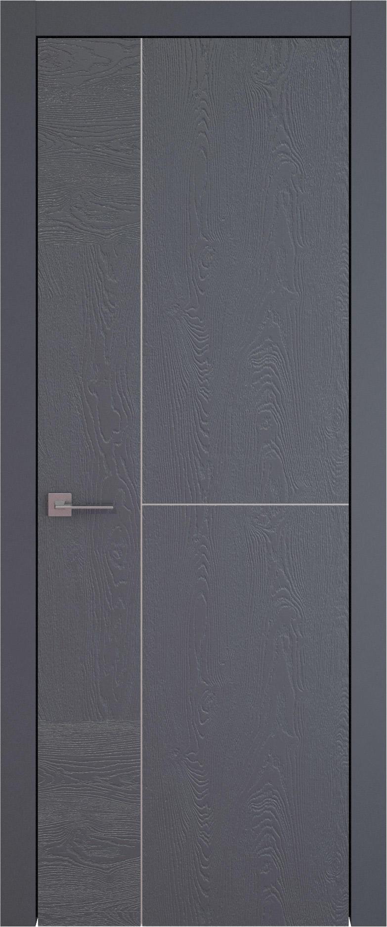 Tivoli Г-1 цвет - Графитово-серая эмаль по шпону (RAL 7024) Без стекла (ДГ)