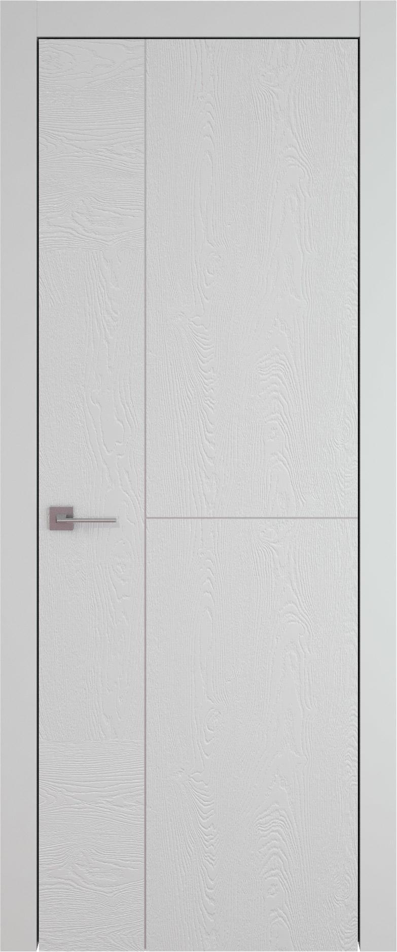 Tivoli Г-1 цвет - Серая эмаль по шпону (RAL 7047) Без стекла (ДГ)