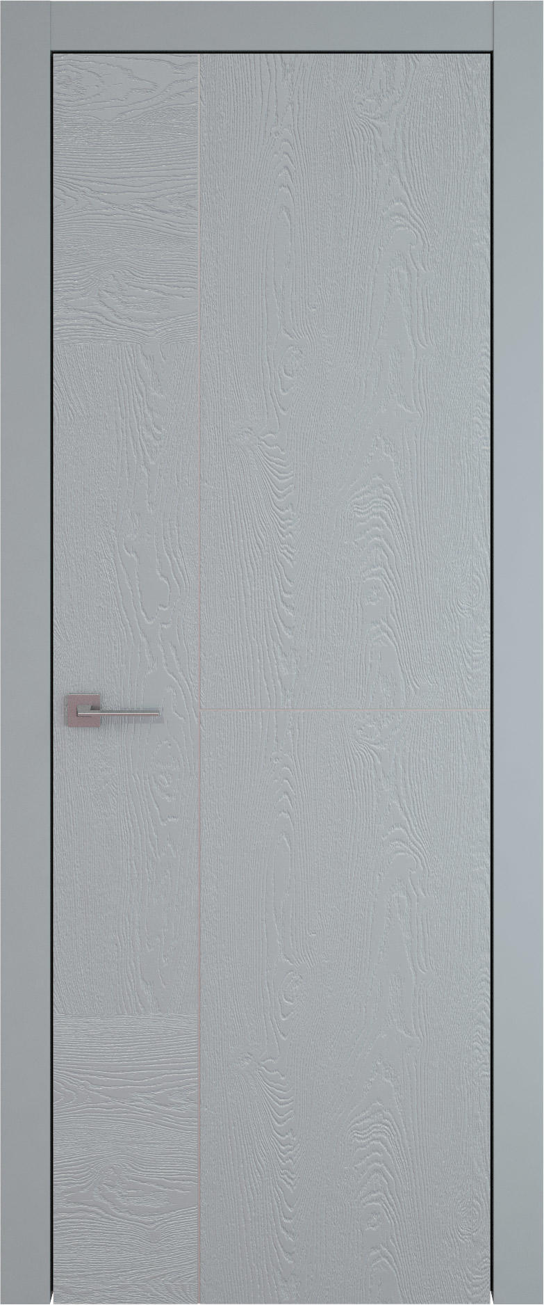Tivoli Г-1 цвет - Серебристо-серая эмаль по шпону (RAL 7045) Без стекла (ДГ)