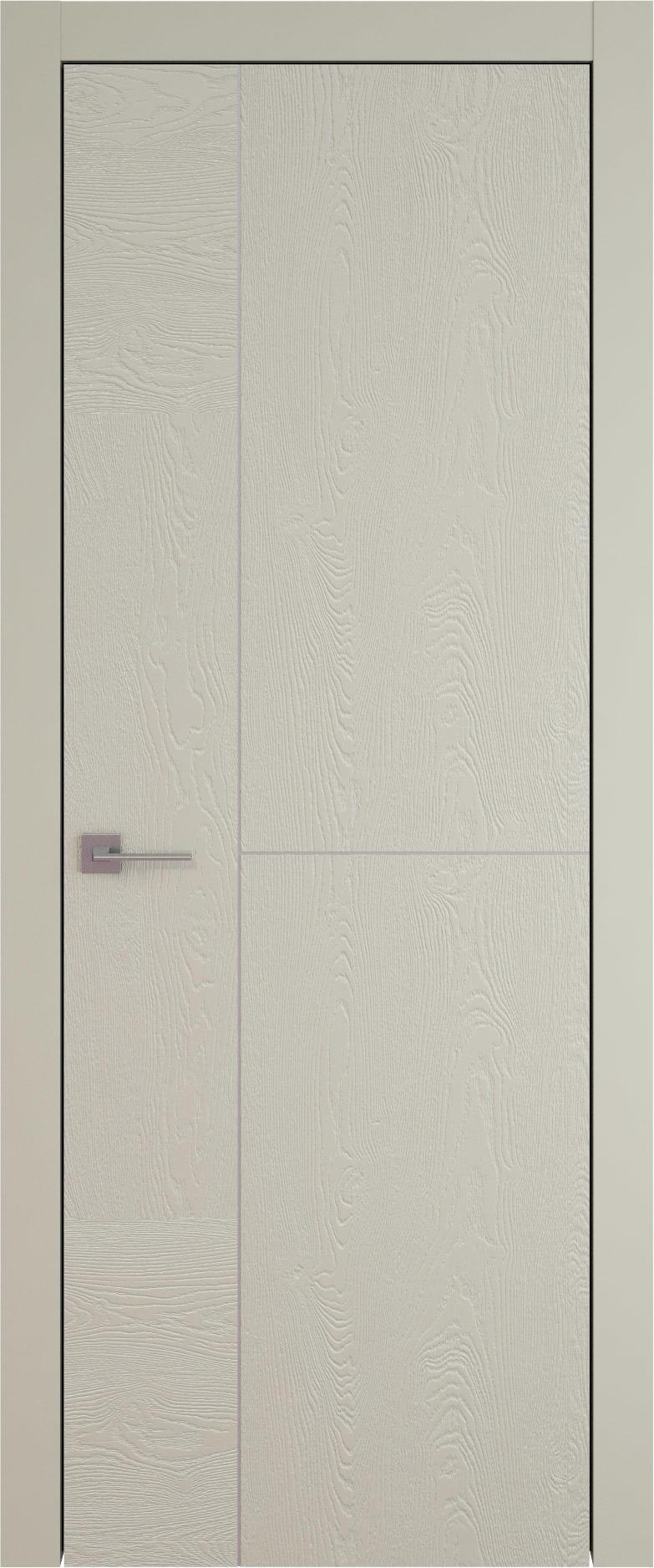 Tivoli Г-1 цвет - Серо-оливковая эмаль по шпону (RAL 7032) Без стекла (ДГ)