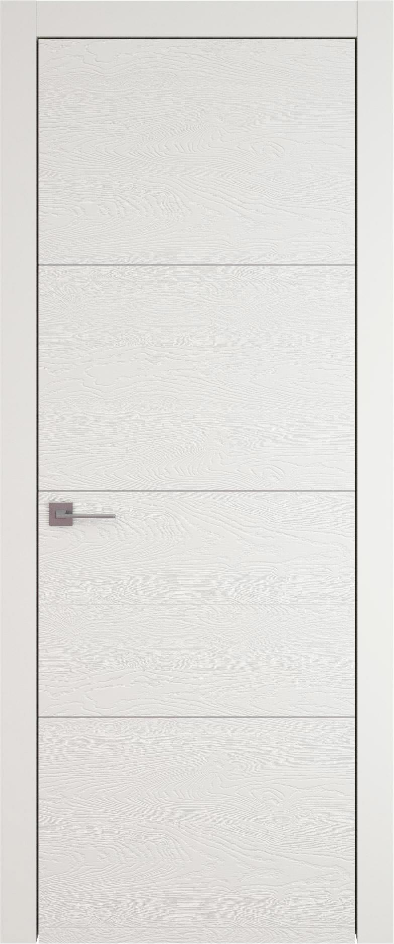 Tivoli Г-2 цвет - Бежевая эмаль по шпону (RAL 9010) Без стекла (ДГ)