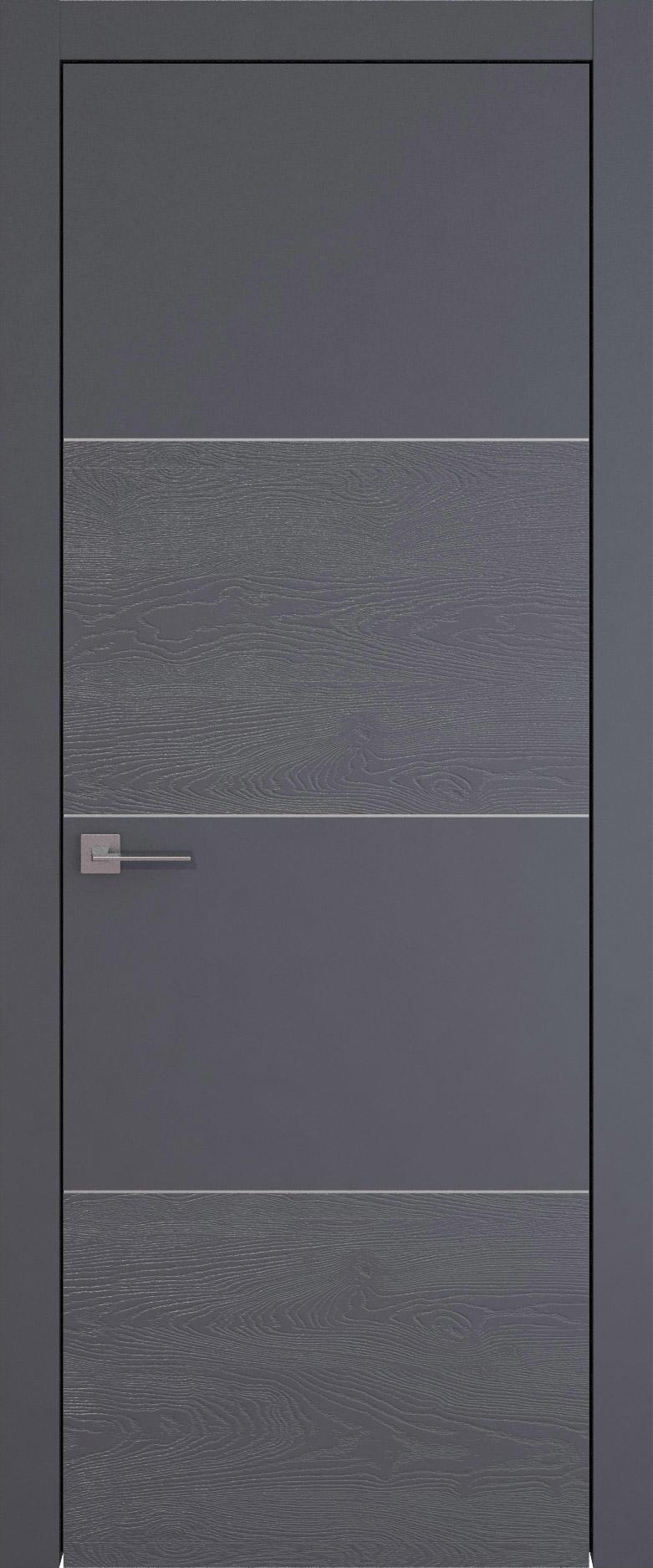 Tivoli Г-2 цвет - Графитово-серая эмаль-эмаль по шпону (RAL 7024) Без стекла (ДГ)
