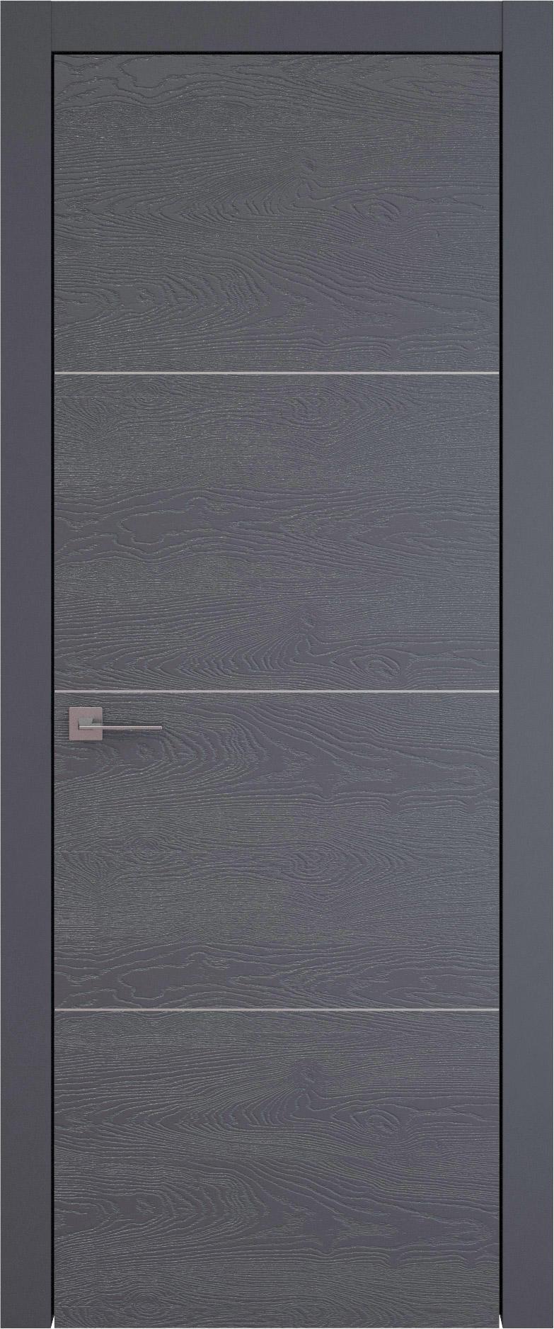 Tivoli Г-2 цвет - Графитово-серая эмаль по шпону (RAL 7024) Без стекла (ДГ)