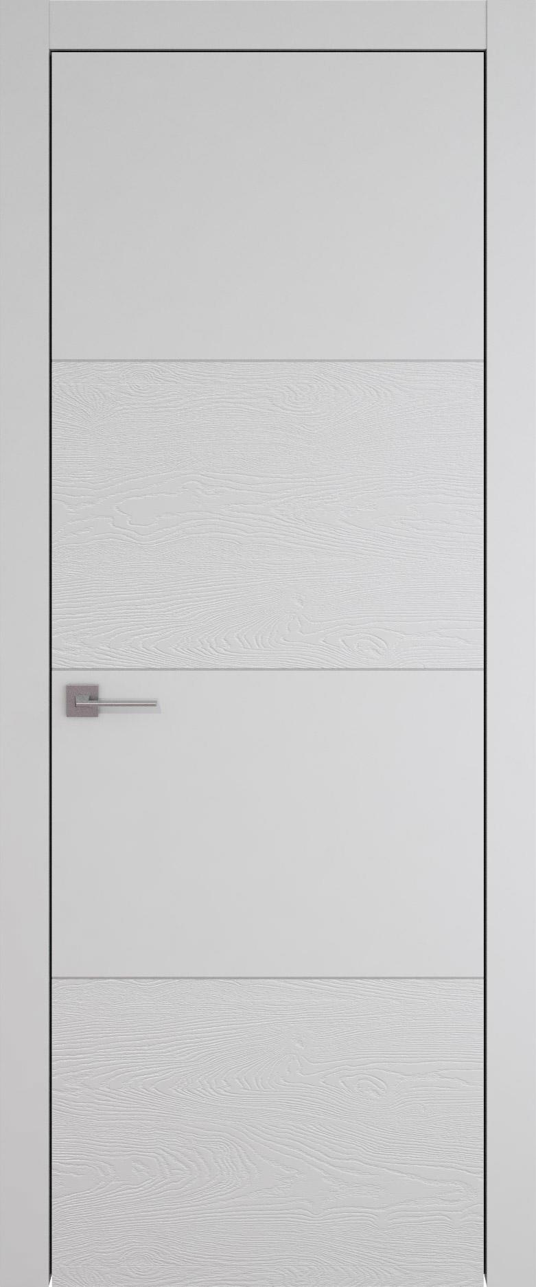Tivoli Г-2 цвет - Серая эмаль-эмаль по шпону (RAL 7047) Без стекла (ДГ)