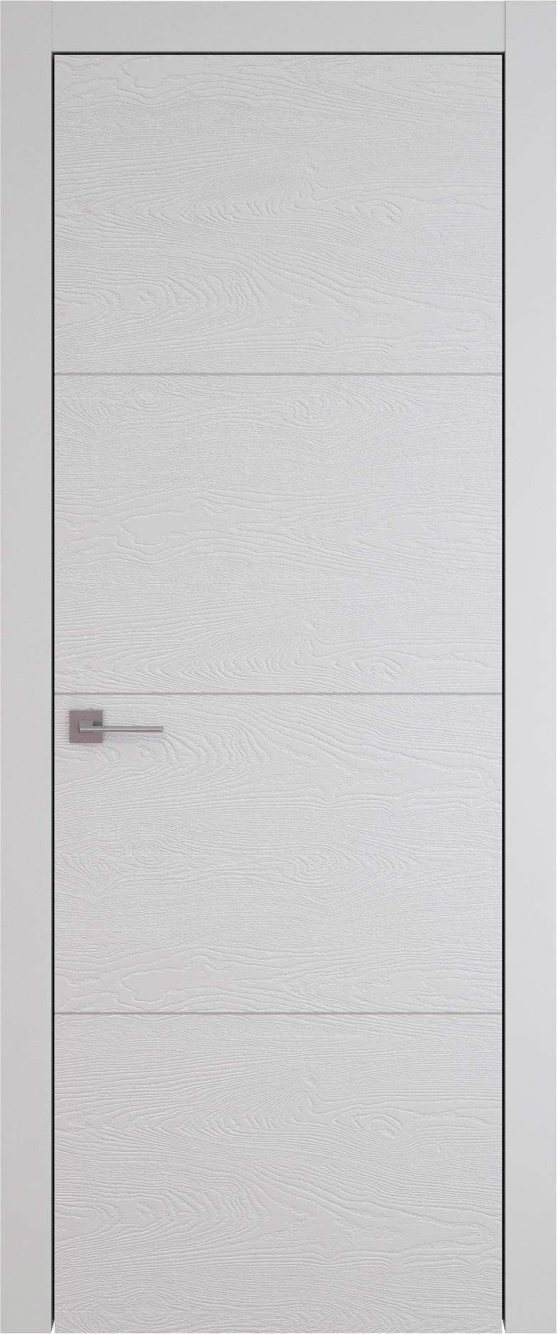 Tivoli Г-2 цвет - Серая эмаль по шпону (RAL 7047) Без стекла (ДГ)