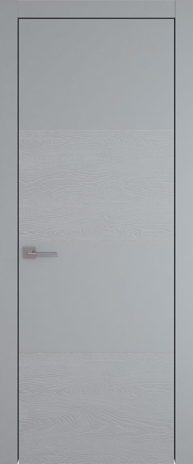 Tivoli Г-2 цвет - Серебристо-серая эмаль-эмаль по шпону (RAL 7045) Без стекла (ДГ)