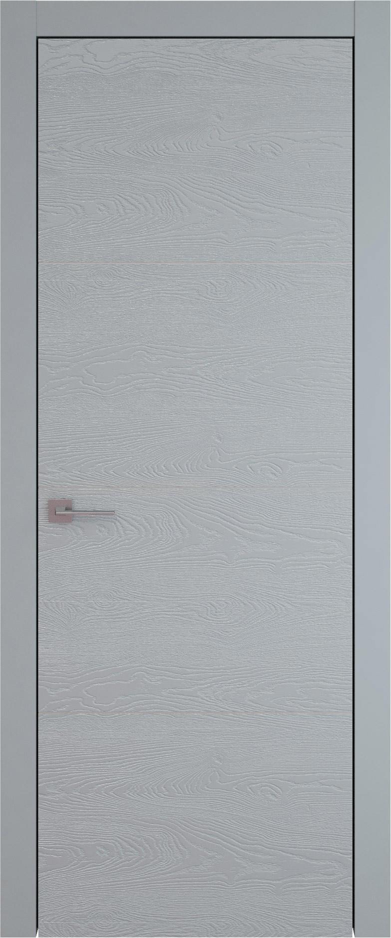 Tivoli Г-2 цвет - Серебристо-серая эмаль по шпону (RAL 7045) Без стекла (ДГ)