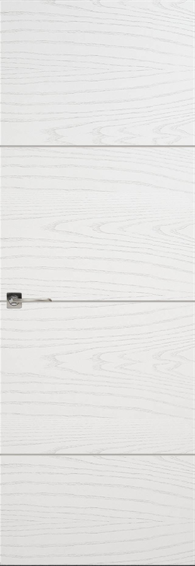 Tivoli Г-2 Invisible цвет - Ясень белая эмаль Без стекла (ДГ)