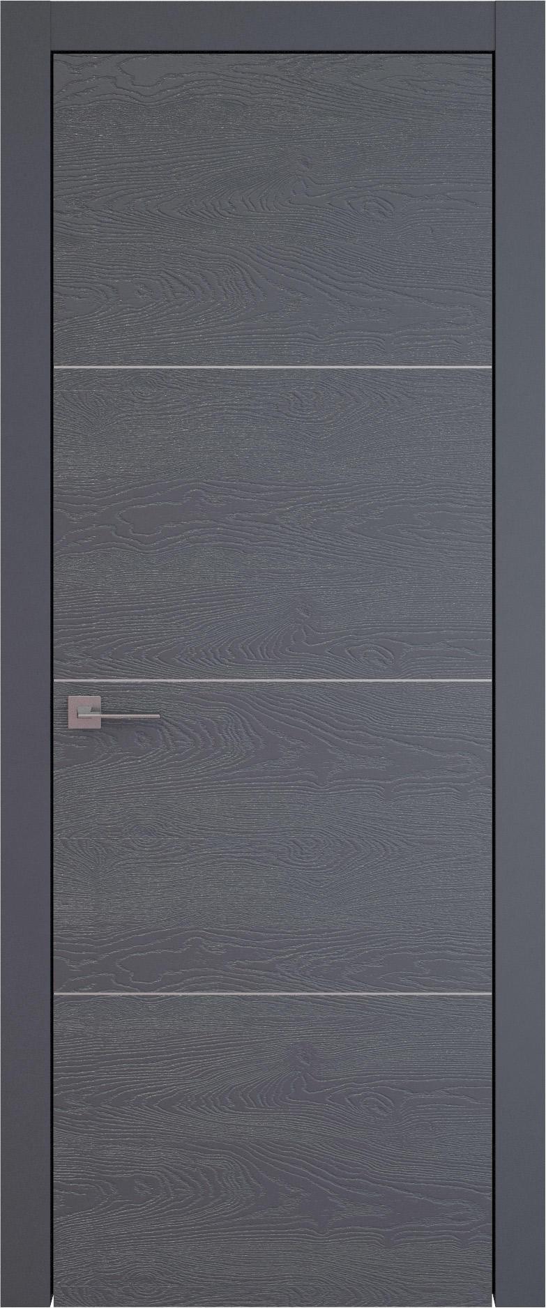 Tivoli Г-3 цвет - Графитово-серая эмаль по шпону (RAL 7024) Без стекла (ДГ)