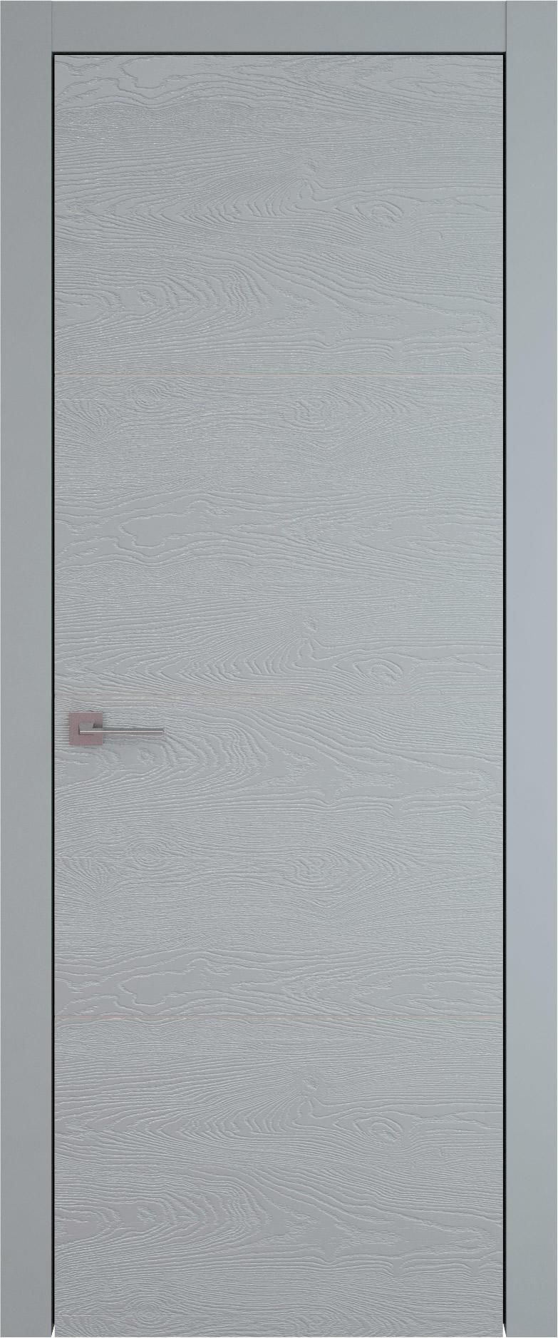Tivoli Г-3 цвет - Серебристо-серая эмаль по шпону (RAL 7045) Без стекла (ДГ)